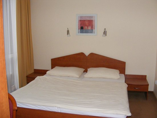 Hotel Bratislava: Matrimonial bed in the bedroom