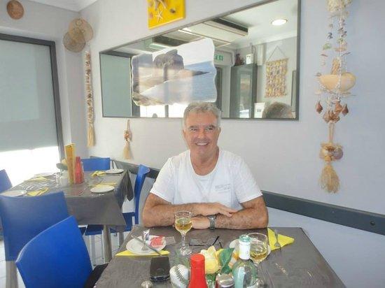 Seashell Fish & Chip Shop : Myself at my favorite Fish and Chip shop Bugibba Malta. Seashells.