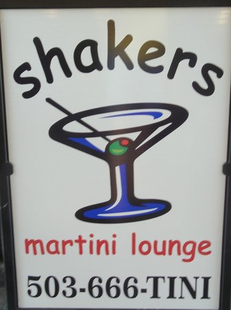 Shakers Martini Lounge : Sign with phone number