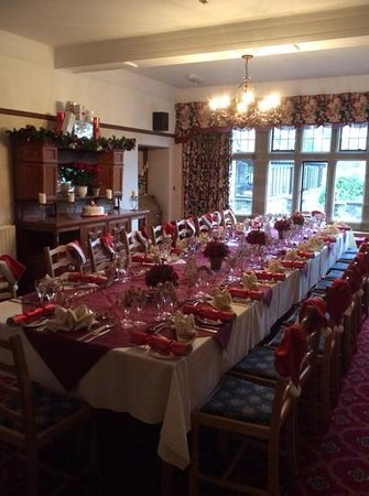Cragwood Country House Hotel: Chistmas table ready
