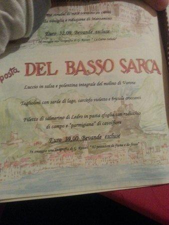 Ristorante La Berlera : Proposta di pesce!!!