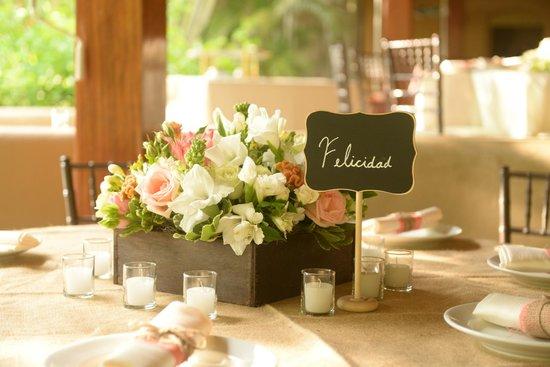 Florblanca Resort: Table decor