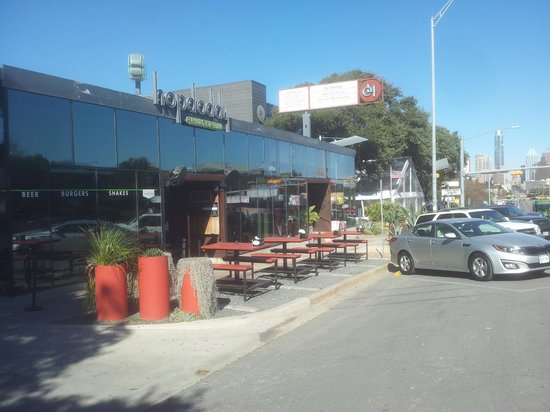 Hopdoddy, easy to find and plenty of parking