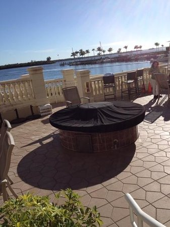 The Westin Cape Coral Resort At Marina Village: View from the outdoor seating at cafe..