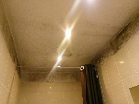 Hotel Liege Strasbourg : Plafond moisi de la salle de bains