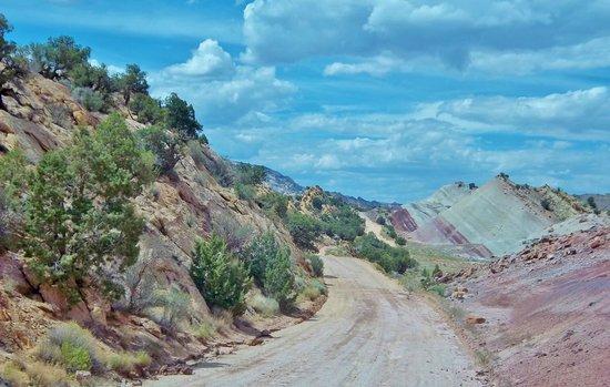 After switchbacks on Burr Trail