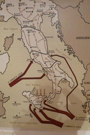 Museo della Linea Gotica: L'Italia nel corso della guerra