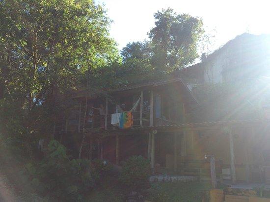 Pousada Recanto da Vovo: Casa do Tarzan pela manhã