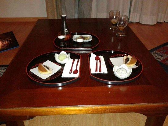 Hotel La Luna Blanca: postre menu degustacion, dorayakis