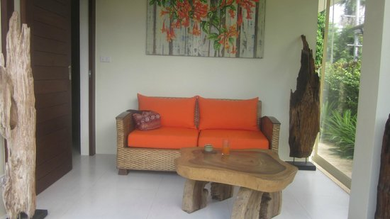 Samahita Retreat: wellness waiting space