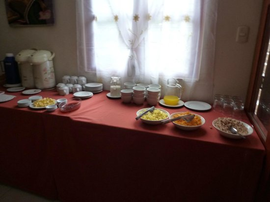 Hotel Casa de Mama Valle: Breakfast