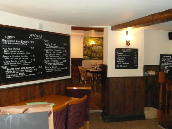 Dukes head: Specials Board with a choice of quality food