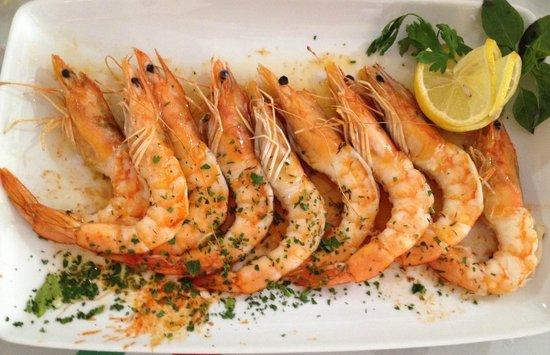 Restaurant Due Torri: GAMBERI ALLA GRIGLIA