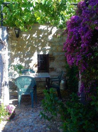 Casa Rural El Vasar: Rincon de patio