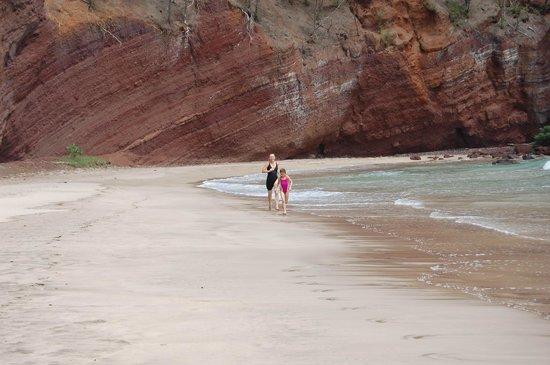 Hamoa Beach: about one quarter mile long