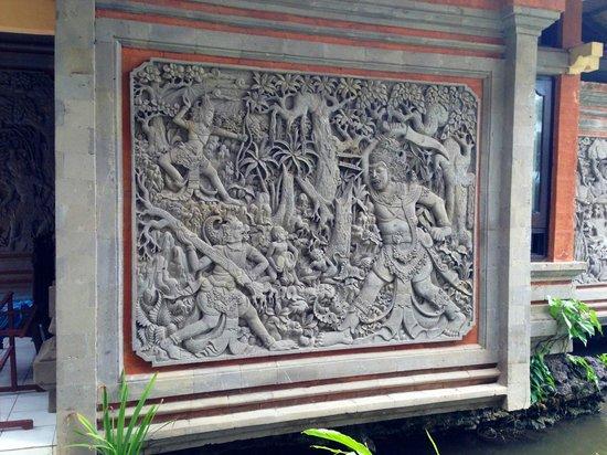 The Rishi Candidasa Beach Hotel: Fresque