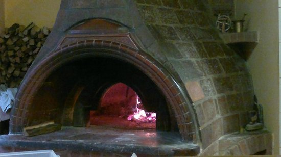 Pension Antica: the great hand made pizza oven daily fresh made pizza ;-)