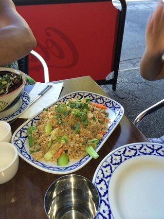 Baan Sabai Jai: Fried Rice with Roast Duck and Vehetables