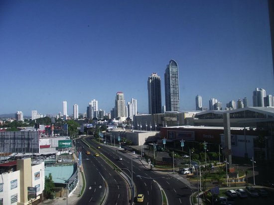 Courtyard Panama at Multiplaza Mall: View of city and mall from room