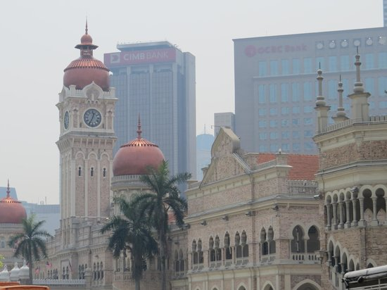 Merdeka Square : Colonial architecture with modern city background