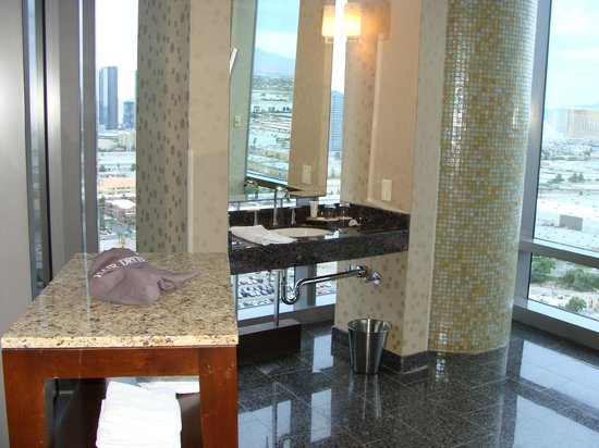 Palms Casino Resort : View from your bathroom.