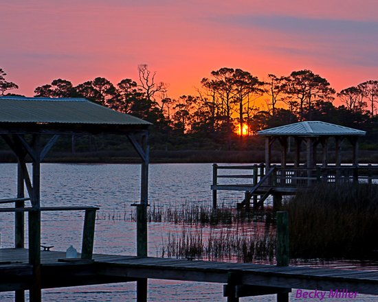 Sunrise from Cape San Blas Inn dock