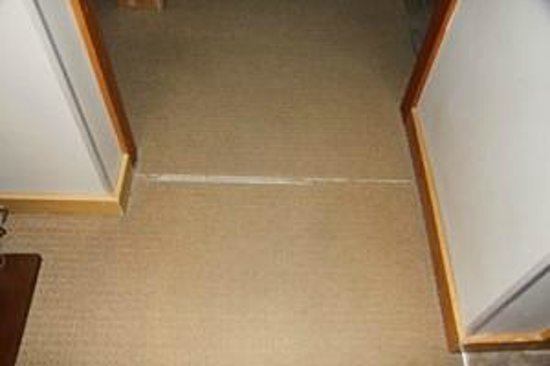 The Lodges at Canmore: Carpet in bad repair