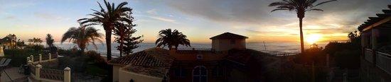 Marriott's Marbella Beach Resort : Panoromic sunset view, November 2013