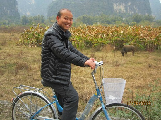 Yangshuo Private Tour-Day Tour: Andy, our fearless bike ride leader!