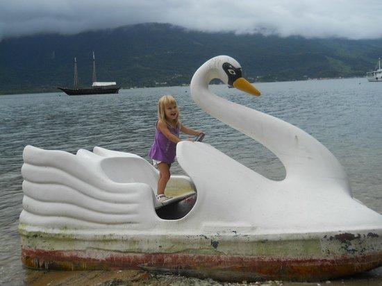Hotel Pierre Itacuruca: bote en forma de cisne(no funcionba)