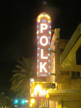 Polk Theatre : Sign