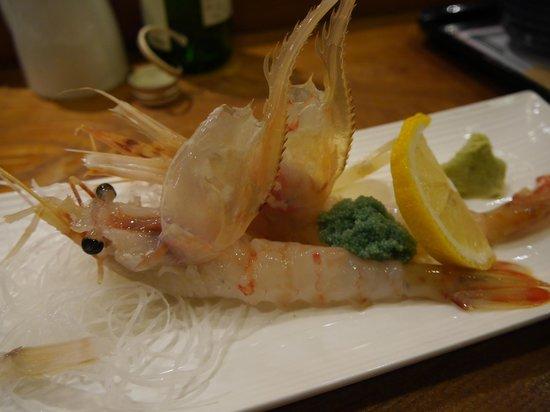 Tatsumi Sushi, Sakaimachi : Botan  shrimps