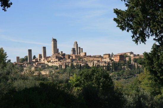Agriturismo Guardastelle: San Gimignano - view from patio