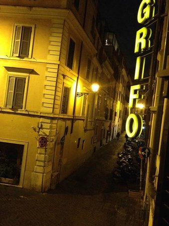 Hotel Grifo: View from room window