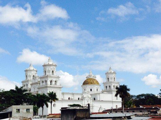 Hotel El Peregrino: View from the 3rd floor balcony.