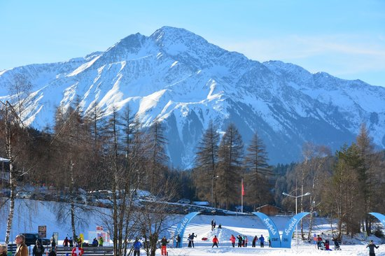 Seefeld in Tirol, Österreich: Cross-country terrain at the Olympia Sport Center in Seefeld