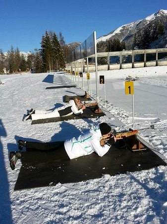 Olympia Sport: Biathlon course at the new Biathlon Stadium