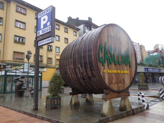 Santa Clara: Gascona, calle de sidrerías