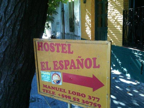 Hostel El Espanol: Placa na entrada