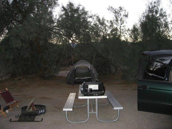Furnace Creek Resort & Fiddler's Campground: Site 103 at dusk