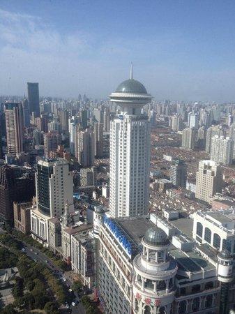 Le Royal Meridien Shanghai: View from room on 49th floor.