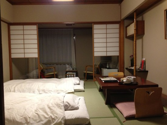 Hotel Ichiei: This Is The 8 Tatami Mat Room With The Futons Laid Out