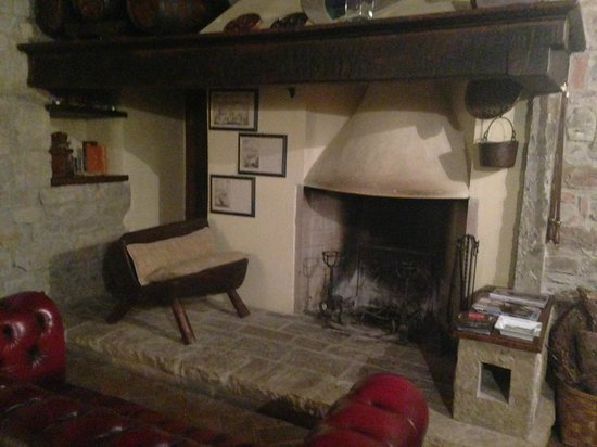 Castellare De' Noveschi: fireplace downstairs