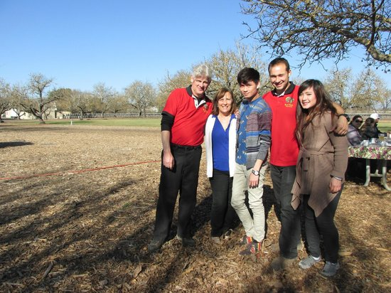 Up & Away Ballooning: Mike, his wife, and our pilot Arman.