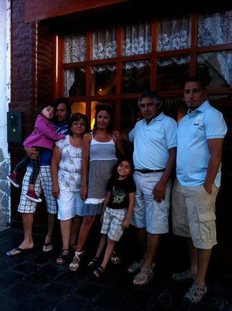 Hotel Sirenuse: our family in front of the hotel