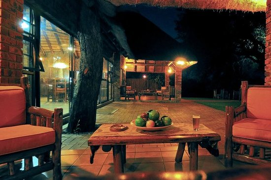 Gomo Gomo Game Lodge: The view from the bar of an evening