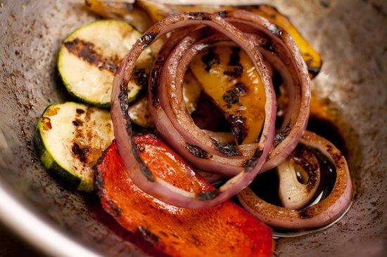 Main Street Diner: Grilled Mediterranean Vegetables tossed in Balsamic & Extra Virgin Olive Oil