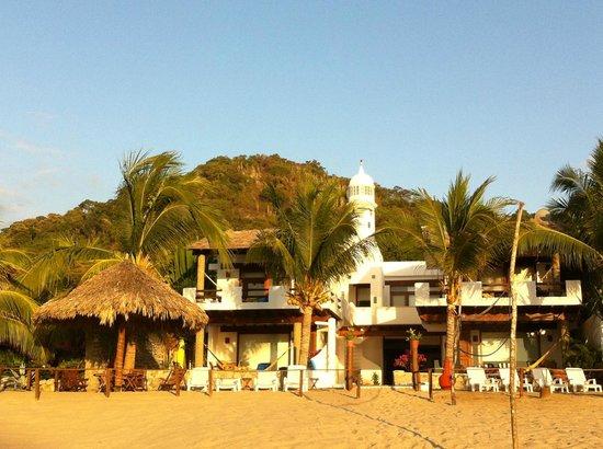 La Casa del Faro: desde la playa