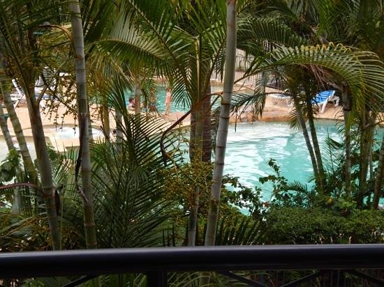 Turtle Beach Resort: our view of pools from room