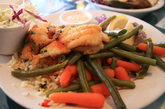 Tognazzini's Dockside Restaurant: well-done grilled grenadier